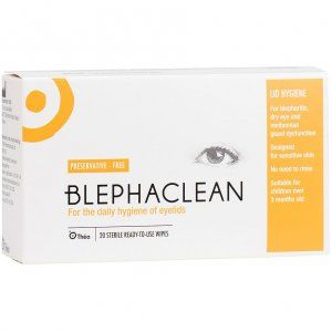 Blephaclean Sterile Eyelid Cleansing Wipes Pack of 20