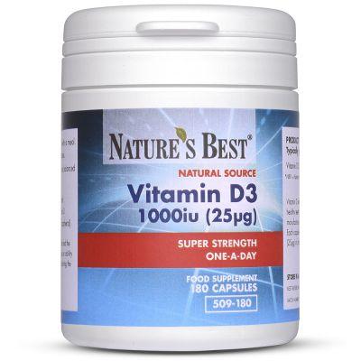 Nature's Best-Vitamin D3 1000iu-180 capsules