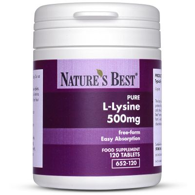 Nature's Best-Lysine Tablets 500mg-120 tablets