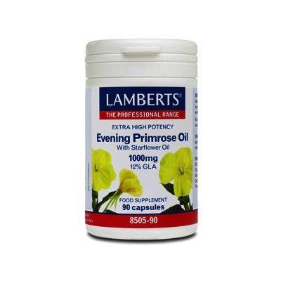 Lamberts Evening Primrose Oil & Starflower Oil Caps 1000mg Pack of 90