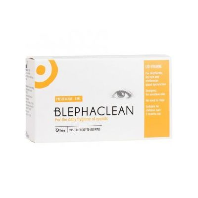 Blephaclean Sterile Eyelid Cleansing Wipes Pack of 20