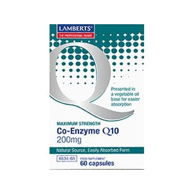 Lamberts Co-enzyme Q10 Capsules 200mg Pack of 60
