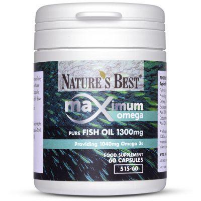 Nature's Best-Maximum Strength Pure Fish Oil 1300mg-60 capsules