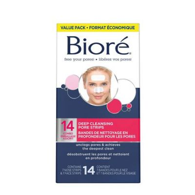 Bioré Combo Deep Cleansing Pore Strips - 7 nose & 7 face strips